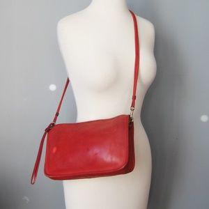 Vintage 80s Coach Cross body Red Leather
